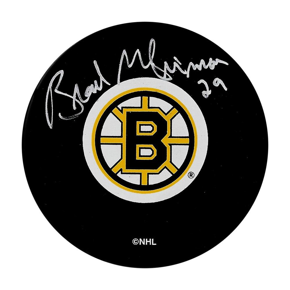 Brad McCrimmon Autographed Boston Bruins Puck