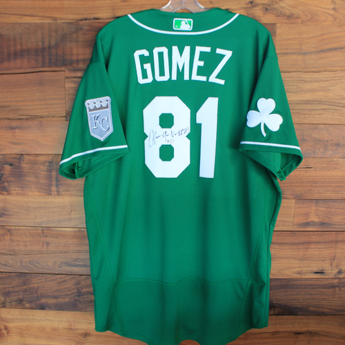 Photo of Autographed 2020 St. Patrick's Day Jersey: Ofreidy Gomez #81 - Size 48