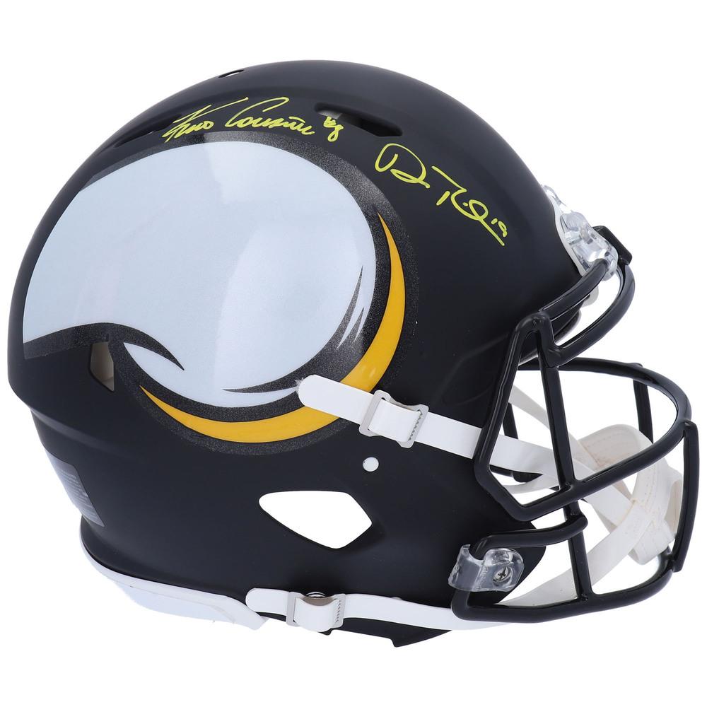 Kirk Cousins & Adam Thielen Minnesota Vikings Autographed Riddell AMP Speed Authentic Helmet