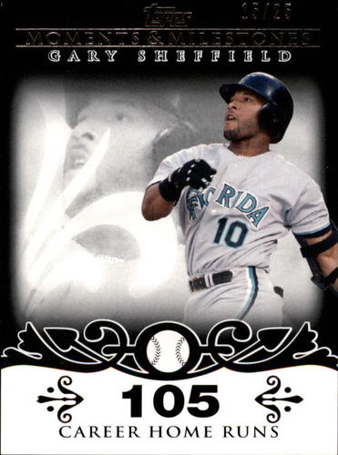 Photo of 2008 Topps Moments and Milestones Black #52-105 Gary Sheffield