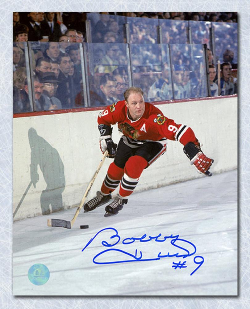 Bobby Hull Chicago Blackhawks Autographed Golden Jet Hockey 8x10 Photo