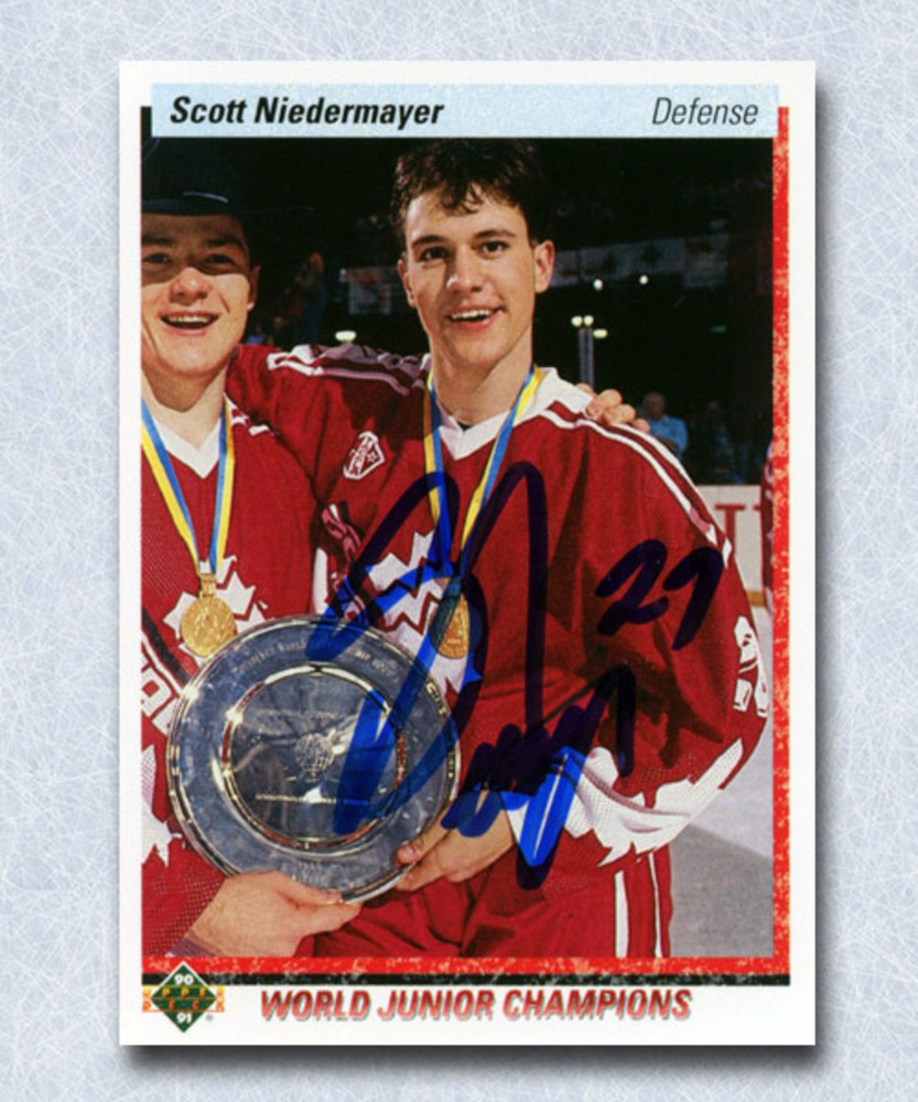 Scott Niedermayer Autographed 1991 Upper Deck Rookie Card