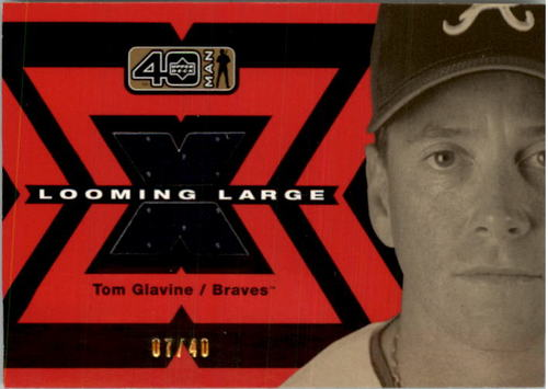 Photo of 2002 Upper Deck 40-Man Looming Large Jerseys Gold #LTG Tom Glavine