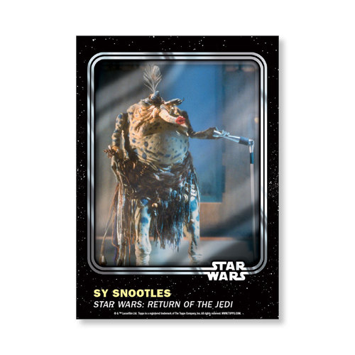 Sy Snootles 2016 Star Wars Card Trader Base Poster - # to 99