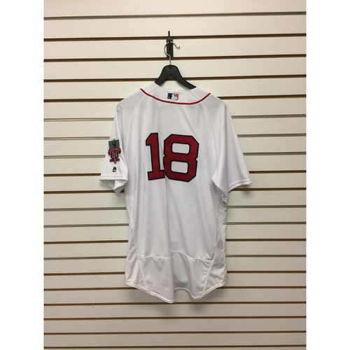 Aaron Hill Game-Used October 2, 2016 Home Jersey with David Ortiz Final Season Patch