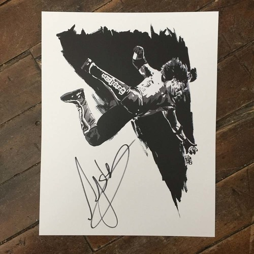 AJ Styles SIGNED 11 x 14 Rob Schamberger Print