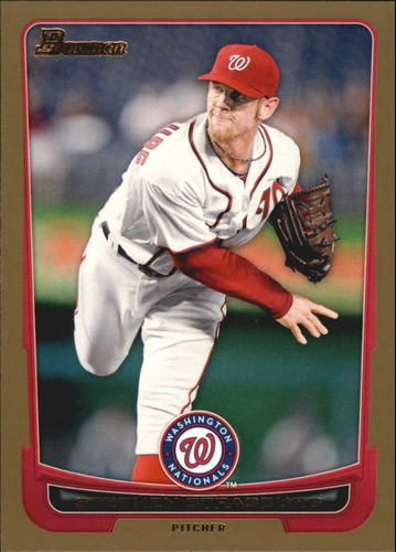 Photo of 2012 Bowman Gold #169 Stephen Strasburg