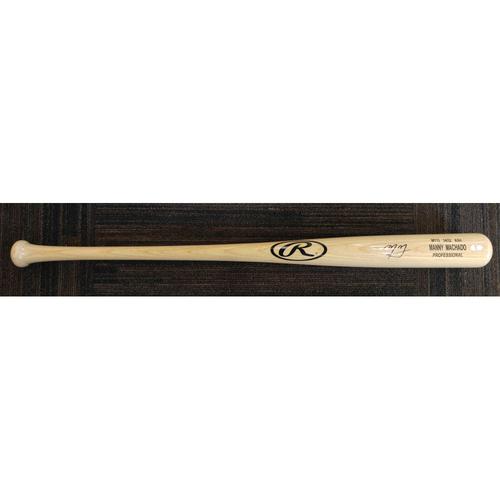 Photo of Manny Machado - Player-Model Bat: Autographed