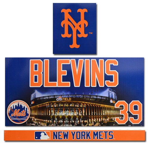 Photo of Jerry Blevins #39 - Game Used Locker Nameplate - 2017 Season