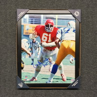 HOF - CHIEFS CURLEY CULP SIGNED 11X14 FRAMED PICTURE