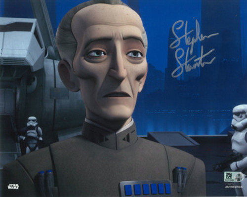 Stephen Stanton as Grand Moff Tarkin 8x10 Autographed in Silver Ink Photo