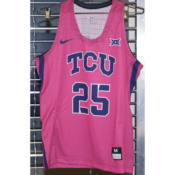 Photo of Women's Basketball Pink Game Worn Nike® Jersey #25 (M)