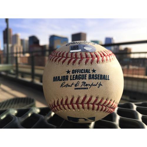 Photo of Colorado Rockies DJ LeMahieu Game-Used Baseball - Triple