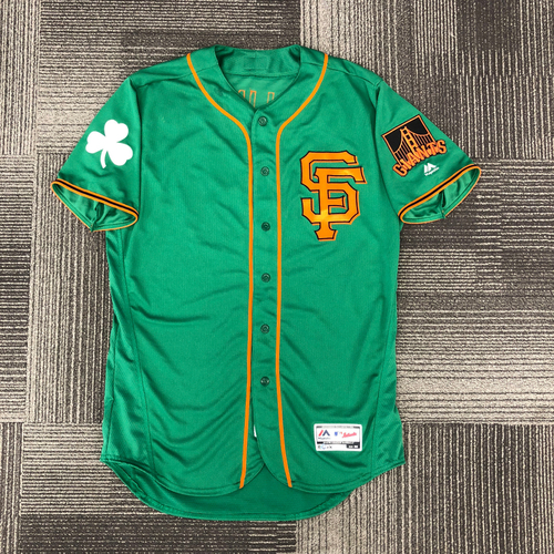 Photo of 2018 San Francisco Giants - Spring Training Jersey - St. Patrick's Day (Select Your Size)