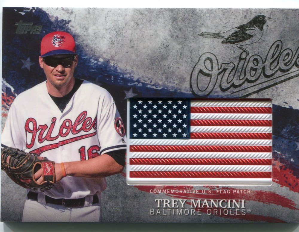 2018 Topps Independence Day U.S. Flag Relics #IDMLTM Trey Mancini