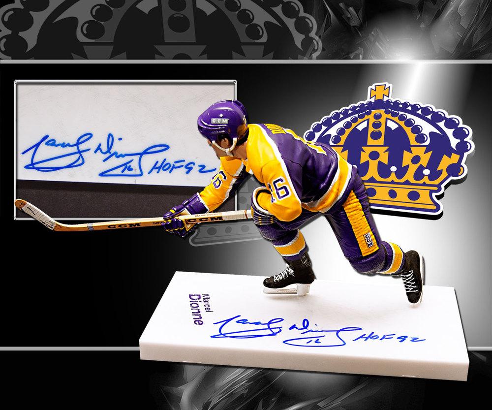 Marcel Dionne Los Angeles Kings HOF Autographed McFarlane Figurine