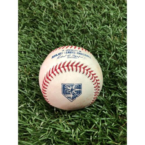 Photo of 20th Anniversary Game Used Baseball: Tony Kemp single off Blake Snell - July 1, 2018 v HOU