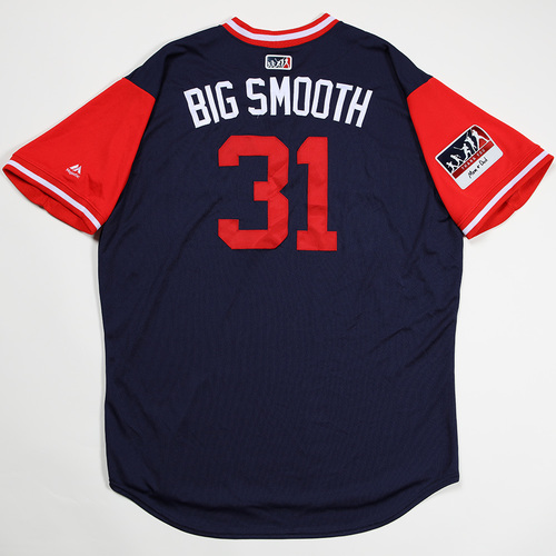 "Photo of Drew ""Big Smooth "" Pomeranz Boston Red Sox Game-Used 2018 Players' Weekend Jersey"