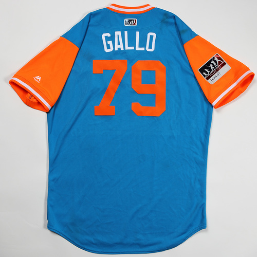 "Photo of Issac ""Gallo"" Galloway Miami Marlins Game-Used Jersey 2018 Players' Weekend Jersey"