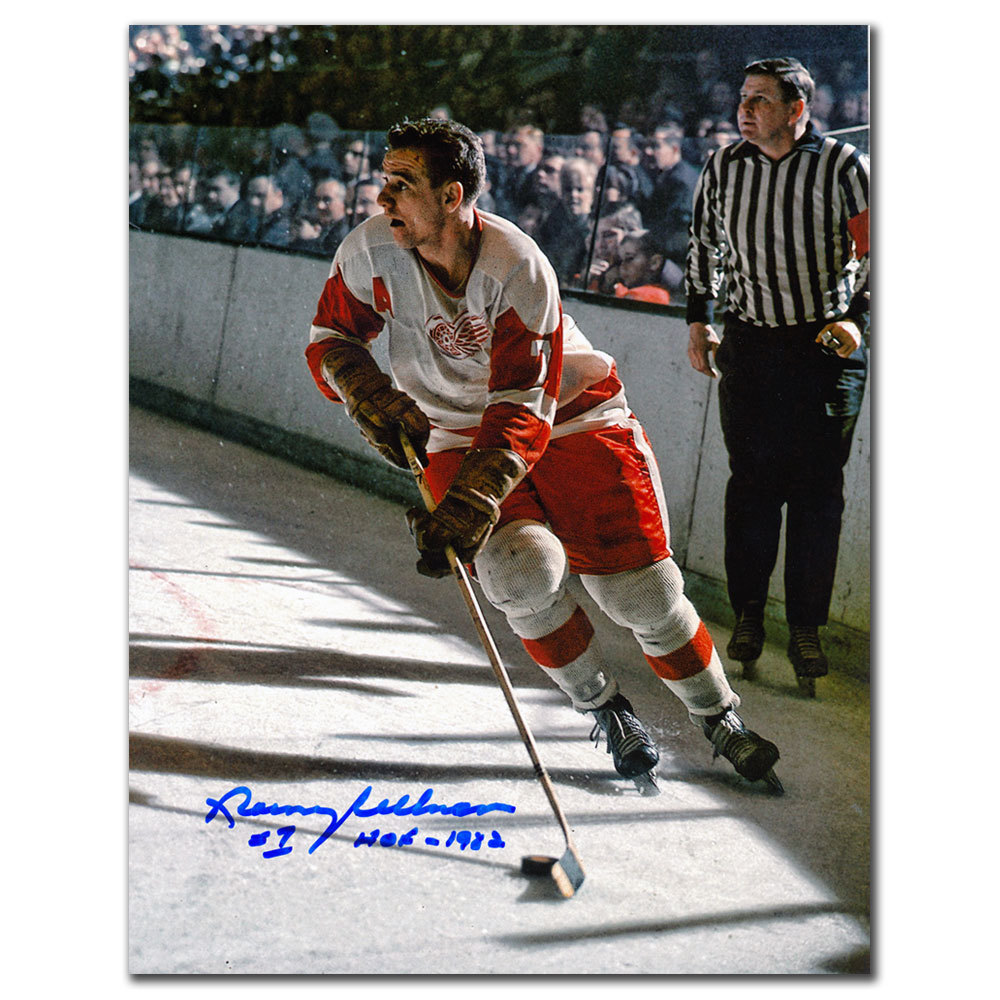 Norm Ullman Detroit Red Wings HOF RUSH Autographed 8x10