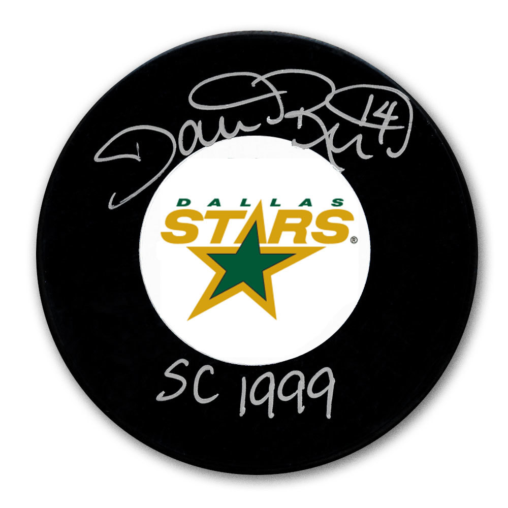 Dave Reid Dallas Stars 1999 Cup Autographed Puck