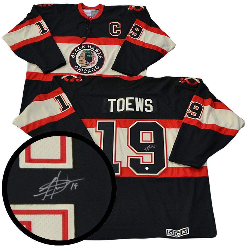 Jonathan Toews Signed Jersey Blackhawks Replica Black 3rd 2009 Vintage CCM 46172e177