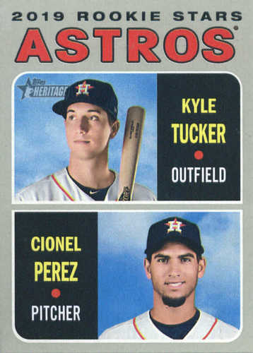 Photo of 2019 Topps Heritage #227 Kyle Tucker RC/Cionel Perez RC