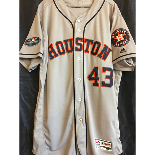 Photo of Lance McCullers 2018 Game-Used ALCS Jersey