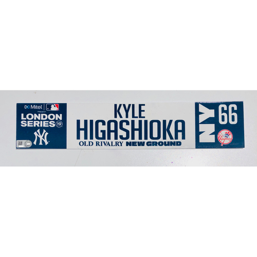 Photo of 2019 London Series - Game Used Locker Tag - Kyle Higashioka, New York Yankees vs Boston Red Sox - 6/30/2019