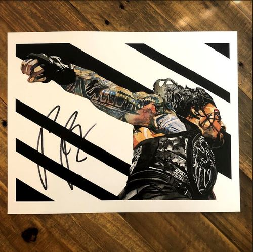 Roman Reigns SIGNED 11 x 14 Rob Schamberger Print