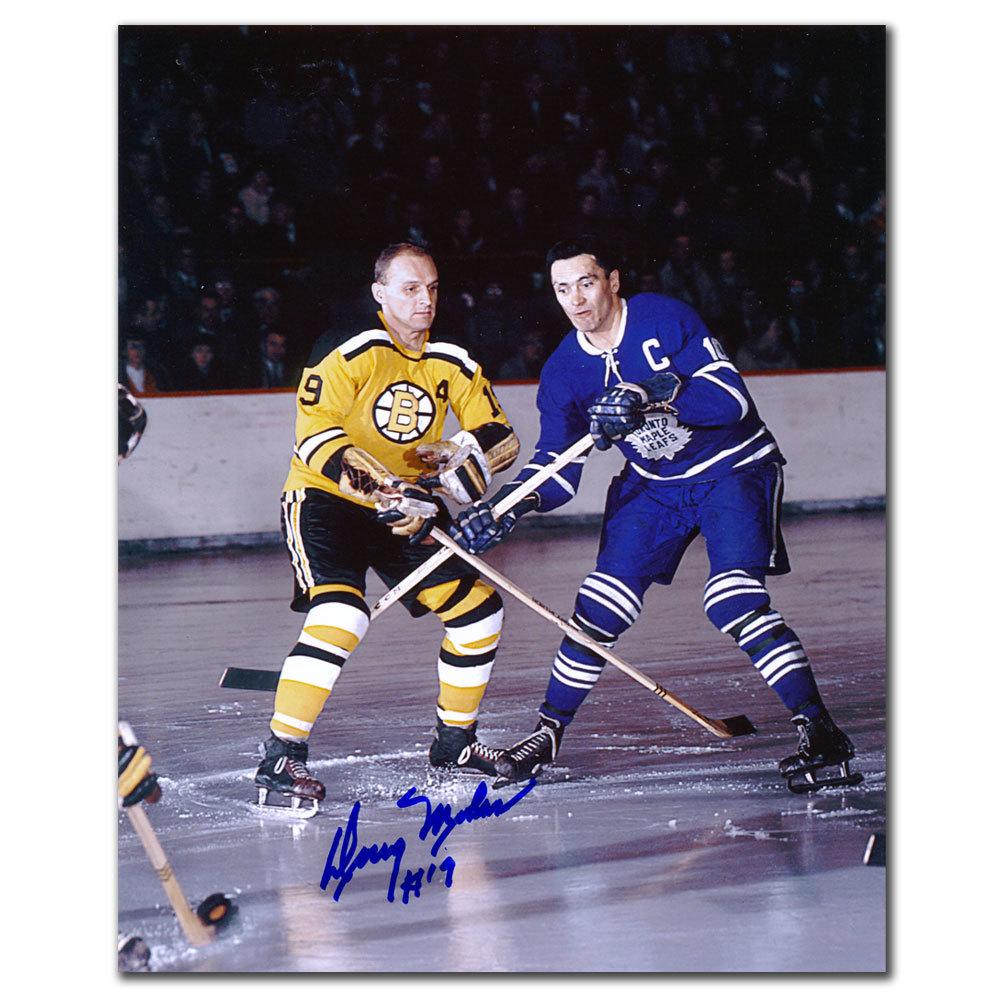 Doug Mohns Boston Bruins vs Armstrong Autographed 8x10