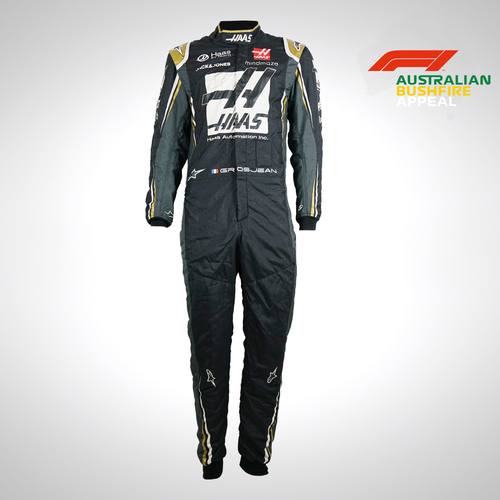 Photo of Romain Grosjean 2019 Signed Worn Race Suit