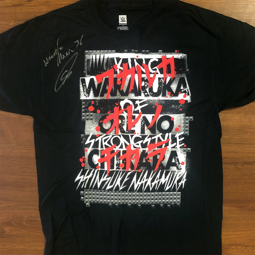 Photo of SIGNED Nakamura WAKARUKA ORE NO CHIKARA Authentic T-Shirt