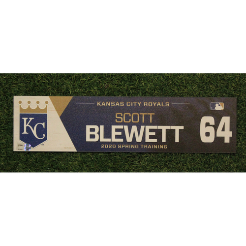 Photo of Game-Used Spring Training Locker Tag: Scott Blewett #64