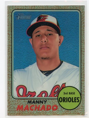 Photo of 2017 Topps Heritage Chrome Refractors #THC420 Manny Machado