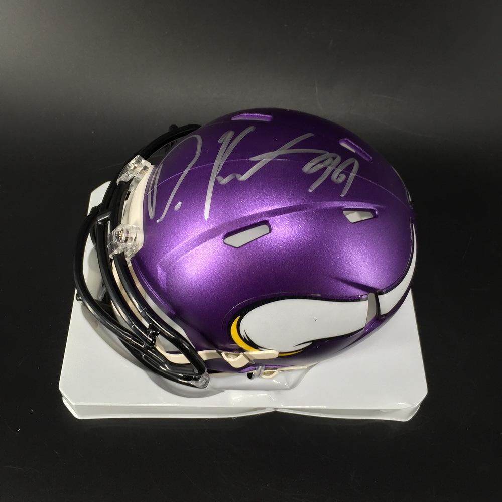 NFL - Vikings Danielle Hunter Signed Mini Helmet