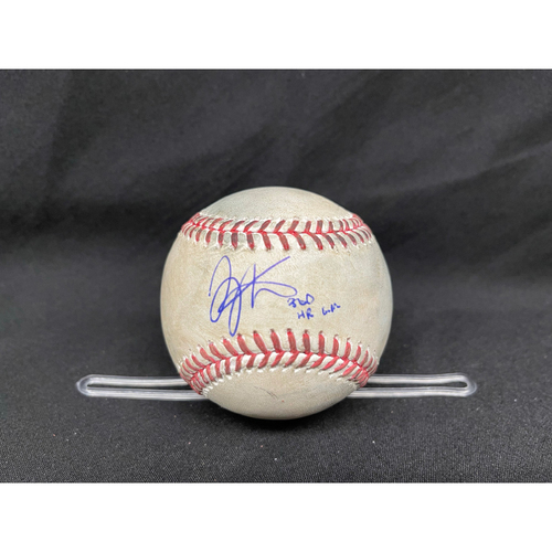 Photo of Joey Votto *Game-Used, Autographed & Inscribed* Baseball from 300th Career HR Game - Dillon Maples to Mike Moustakas (Foul) -- 04/30/2021 - CHC vs. CIN - Bot 7