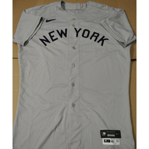 Photo of 2021 New York Yankees vs. Chicago White Sox in Dyersville, Iowa - Game-Used 1919 Throwback Jersey - Giancarlo Stanton - Size 46TC