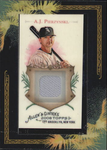Photo of 2008 Topps Allen and Ginter Relics #AJP A.J. Pierzynski Jsy C