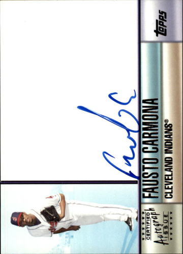 Photo of 2006 Topps Autographs #FC Fausto Carmona H