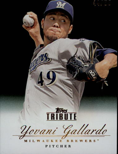 Photo of 2012 Topps Tribute Black #21 Yovani Gallardo