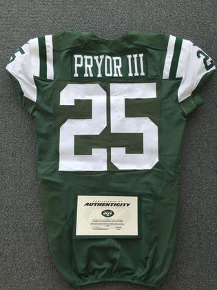 NFL Auction | New York Jets - 2015 #25 Calvin Pryor Game Worn Jersey