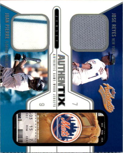 Photo of 2004 Fleer Authentix Game Jersey Dual #JRJP Jose Reyes/Juan Pierre