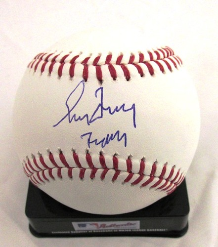 "Photo of Greg Maddux Autographed ""Mad Dog"" Baseball"