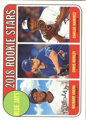 Photo of 2018 Topps Heritage #379 Carlos Ramirez RC/Chris Rowley RC/Richard Urena RC