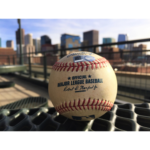 Photo of Colorado Rockies Mark Reynolds Game-Used Baseball - Single