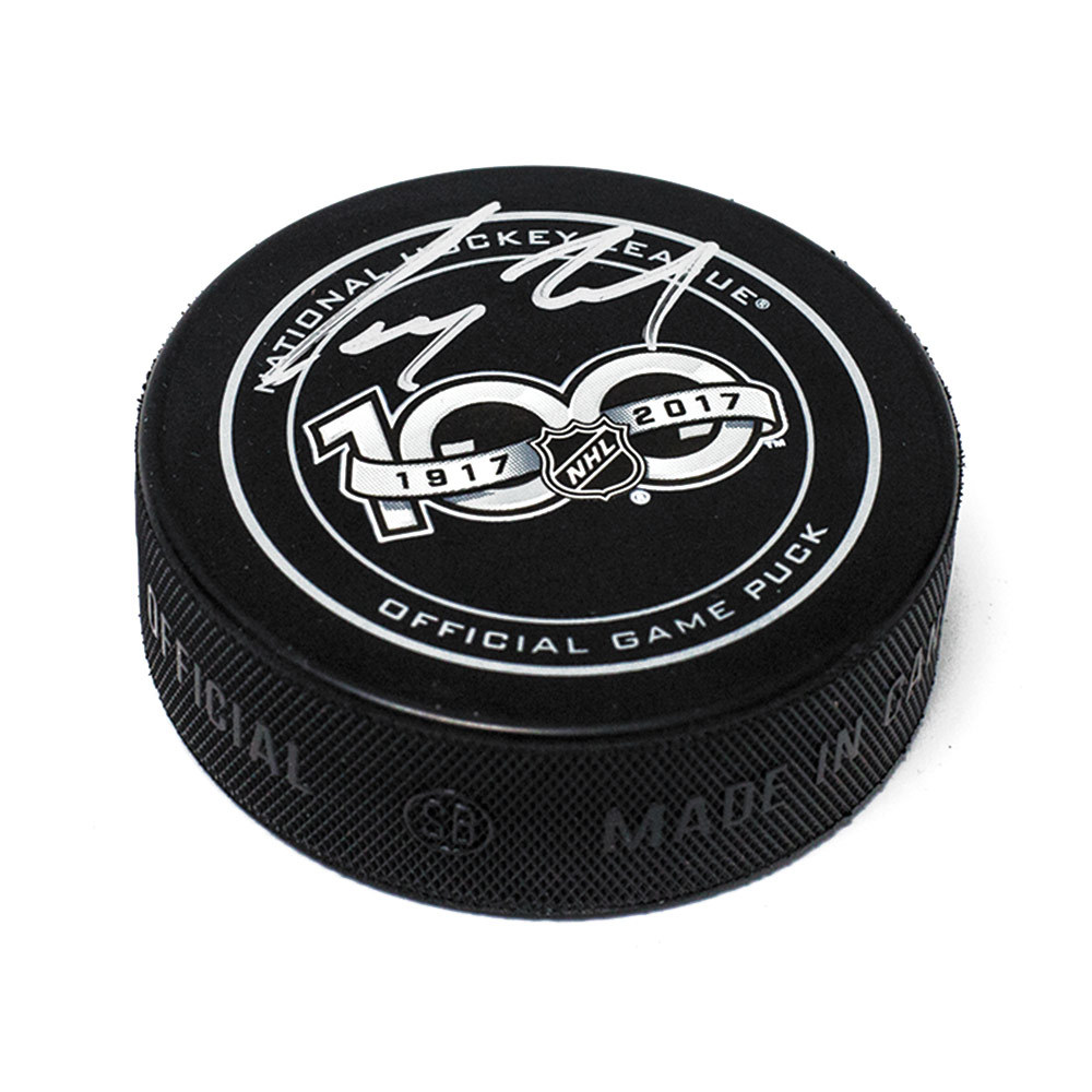 Corey Perry NHL Centennial Season Autographed 100 Years Official Game Puck *Anaheim Ducks*