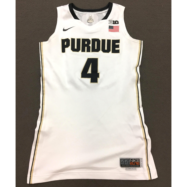 Photo of Thornton #4 Purdue Women's Basketball 2014-15 White Jersey