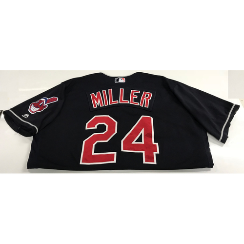 Photo of Andrew Miller Game-Used 2018 Opening Day Jersey (Road 3/29 @ SEA & Home 4/6 vs. KC)