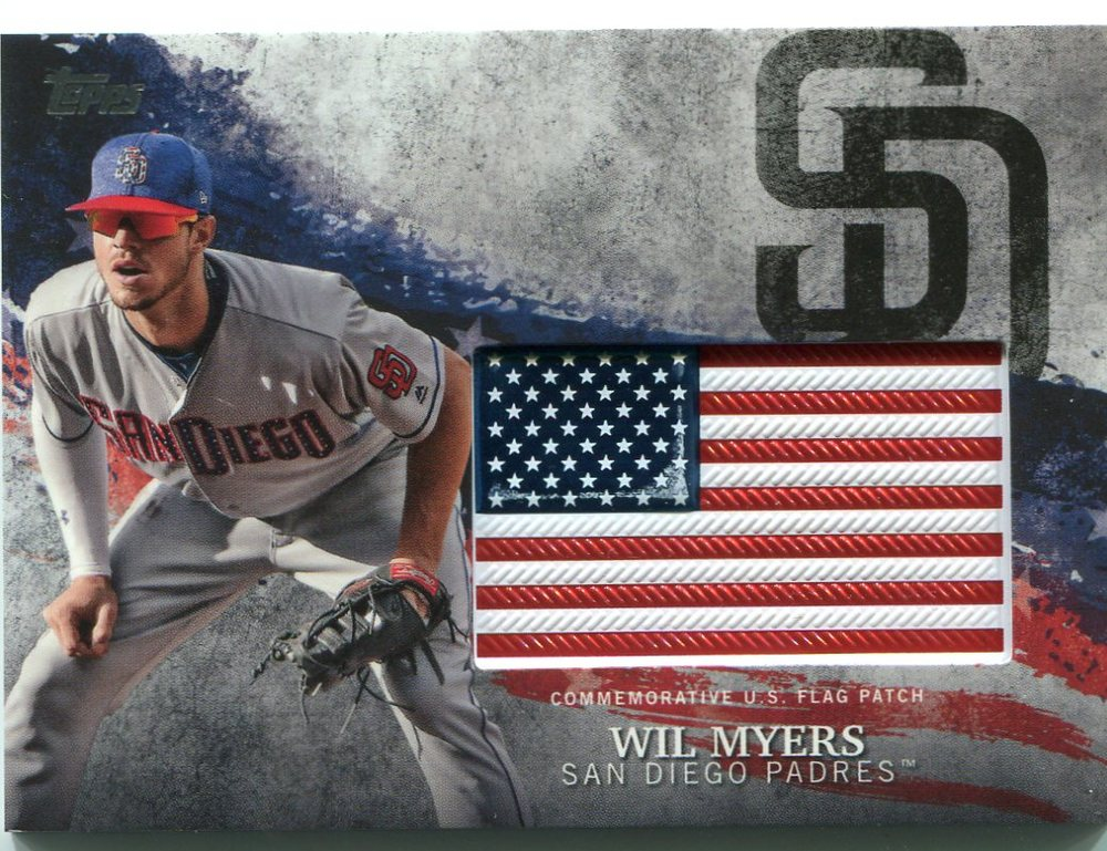 2018 Topps Independence Day U.S. Flag Relics #IDMLWM Wil Myers